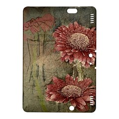 Flowers Plant Red Drawing Art Kindle Fire Hdx 8 9  Hardshell Case