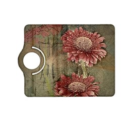 Flowers Plant Red Drawing Art Kindle Fire HD (2013) Flip 360 Case