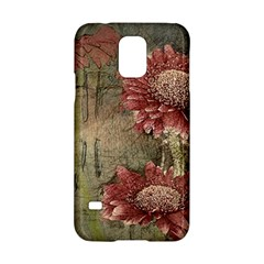 Flowers Plant Red Drawing Art Samsung Galaxy S5 Hardshell Case