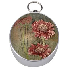 Flowers Plant Red Drawing Art Silver Compasses