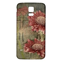 Flowers Plant Red Drawing Art Samsung Galaxy S5 Back Case (white)