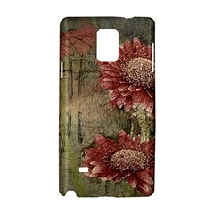 Flowers Plant Red Drawing Art Samsung Galaxy Note 4 Hardshell Case