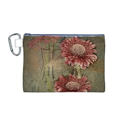 Flowers Plant Red Drawing Art Canvas Cosmetic Bag (m)