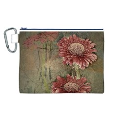 Flowers Plant Red Drawing Art Canvas Cosmetic Bag (l)