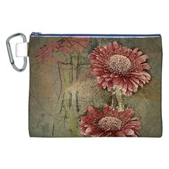 Flowers Plant Red Drawing Art Canvas Cosmetic Bag (XXL)