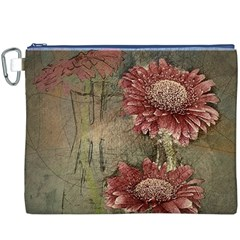 Flowers Plant Red Drawing Art Canvas Cosmetic Bag (XXXL)