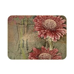 Flowers Plant Red Drawing Art Double Sided Flano Blanket (Mini)