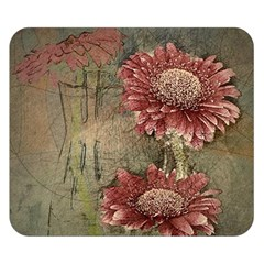 Flowers Plant Red Drawing Art Double Sided Flano Blanket (Small)