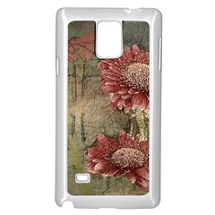 Flowers Plant Red Drawing Art Samsung Galaxy Note 4 Case (white)