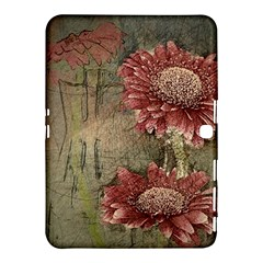Flowers Plant Red Drawing Art Samsung Galaxy Tab 4 (10.1 ) Hardshell Case