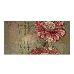 Flowers Plant Red Drawing Art Satin Wrap
