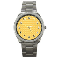 Pattern Background Texture Sport Metal Watch