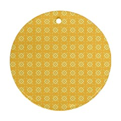 Pattern Background Texture Round Ornament (two Sides)