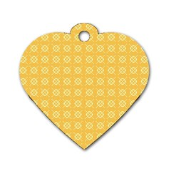 Pattern Background Texture Dog Tag Heart (One Side)