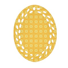 Pattern Background Texture Oval Filigree Ornament (two Sides)