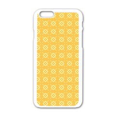 Pattern Background Texture Apple iPhone 6/6S White Enamel Case