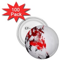 Red Black Wolf Stamp Background 1 75  Buttons (100 Pack)