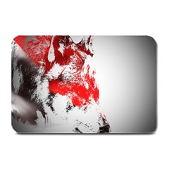 Red Black Wolf Stamp Background Plate Mats