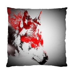 Red Black Wolf Stamp Background Standard Cushion Case (One Side)