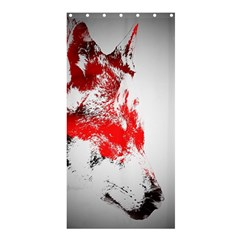 Red Black Wolf Stamp Background Shower Curtain 36  x 72  (Stall)