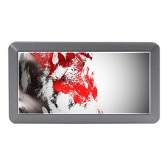 Red Black Wolf Stamp Background Memory Card Reader (Mini)