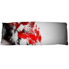 Red Black Wolf Stamp Background Body Pillow Case Dakimakura (two Sides)