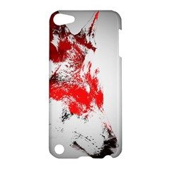 Red Black Wolf Stamp Background Apple iPod Touch 5 Hardshell Case