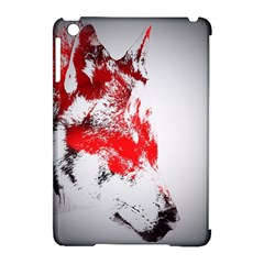 Red Black Wolf Stamp Background Apple iPad Mini Hardshell Case (Compatible with Smart Cover)