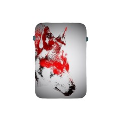 Red Black Wolf Stamp Background Apple Ipad Mini Protective Soft Cases