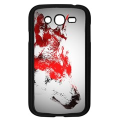 Red Black Wolf Stamp Background Samsung Galaxy Grand Duos I9082 Case (black)