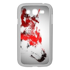 Red Black Wolf Stamp Background Samsung Galaxy Grand DUOS I9082 Case (White)