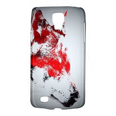 Red Black Wolf Stamp Background Galaxy S4 Active