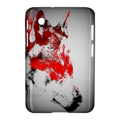 Red Black Wolf Stamp Background Samsung Galaxy Tab 2 (7 ) P3100 Hardshell Case