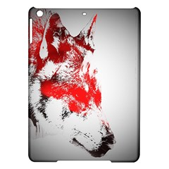 Red Black Wolf Stamp Background Ipad Air Hardshell Cases