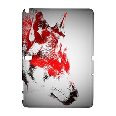 Red Black Wolf Stamp Background Galaxy Note 1