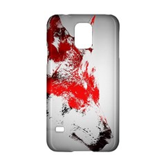 Red Black Wolf Stamp Background Samsung Galaxy S5 Hardshell Case