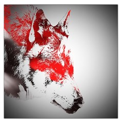 Red Black Wolf Stamp Background Large Satin Scarf (square)