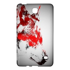 Red Black Wolf Stamp Background Samsung Galaxy Tab 4 (7 ) Hardshell Case