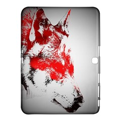 Red Black Wolf Stamp Background Samsung Galaxy Tab 4 (10 1 ) Hardshell Case