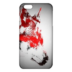 Red Black Wolf Stamp Background iPhone 6 Plus/6S Plus TPU Case