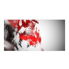 Red Black Wolf Stamp Background Satin Wrap