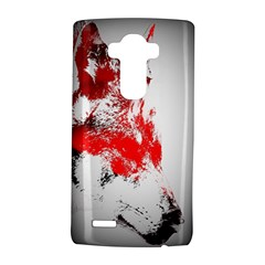 Red Black Wolf Stamp Background Lg G4 Hardshell Case