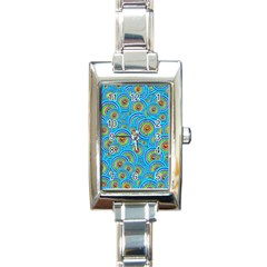 Digital Art Circle About Colorful Rectangle Italian Charm Watch