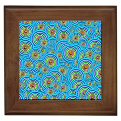 Digital Art Circle About Colorful Framed Tiles