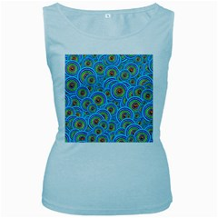 Digital Art Circle About Colorful Women s Baby Blue Tank Top