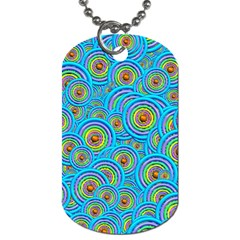 Digital Art Circle About Colorful Dog Tag (two Sides)