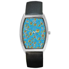 Digital Art Circle About Colorful Barrel Style Metal Watch