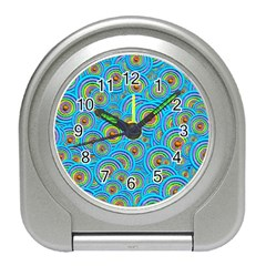 Digital Art Circle About Colorful Travel Alarm Clocks
