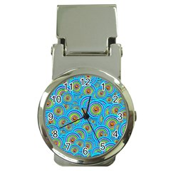 Digital Art Circle About Colorful Money Clip Watches