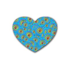 Digital Art Circle About Colorful Heart Coaster (4 pack)